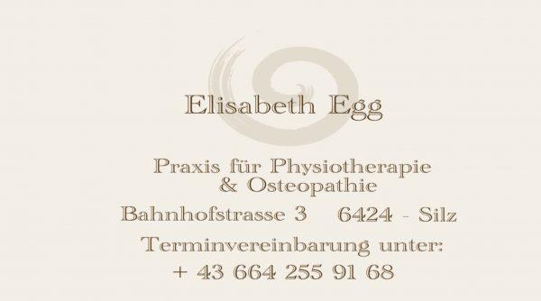 Elisabeth Egg, Praxis für Physiotherapie & Osteopathie